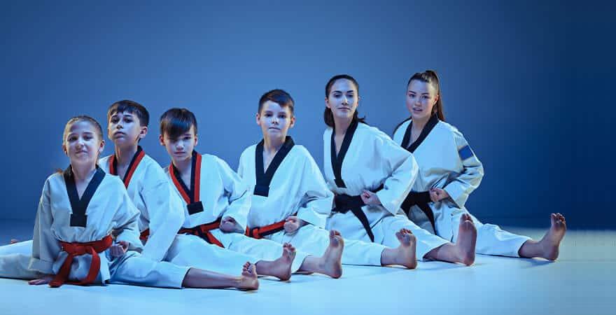 Martial Arts Lessons for Kids in _Williamsburg_ _VA_ - Kids Group Splits