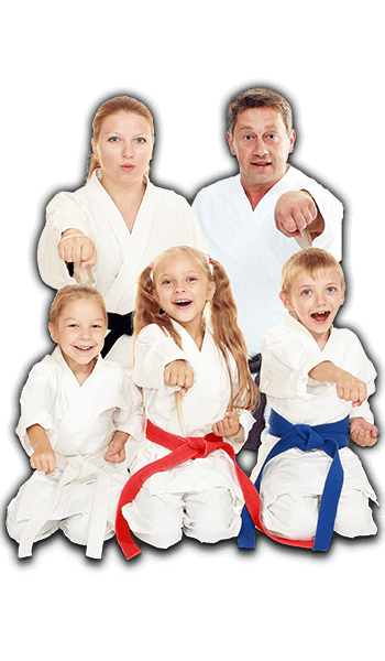 Martial Arts Lessons for Families in _Williamsburg_ _VA_ - Sitting Group Family Banner