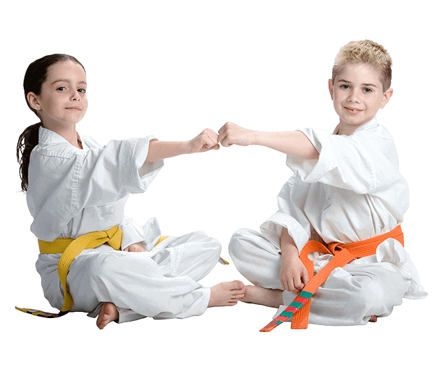 Martial Arts Lessons for Kids in _Williamsburg_ _VA_ - Kids Greeting Happy Footer Banner