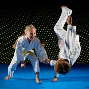 Martial Arts Lessons for Kids in _Williamsburg_ _VA_ - Judo Toss Kids Girl