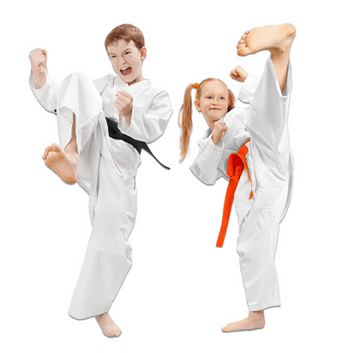 Martial Arts Lessons for Kids in _Williamsburg_ _VA_ - Kicks High Kicking Together